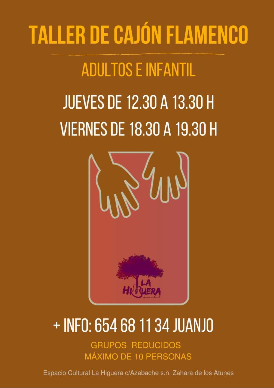 Taller de Cajón Flamenco (Adultos) en La Higuera - Zahara de los Atunes