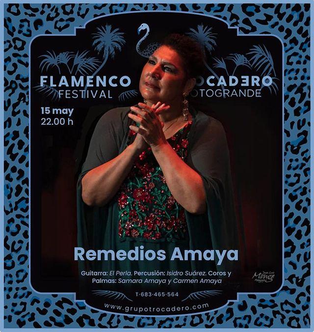 Actuación de Remedios Amaya en Trocadero Festival Flamenco Sotogrande