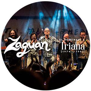 Actuación de ZAGUAN, EL HOMENAJE A TRIANA ciclo de música de autor -El Abierto- en el Teatro de Vejer