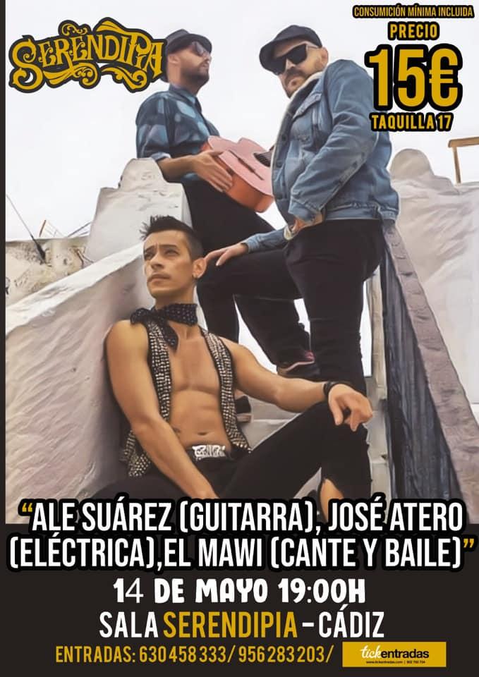 Actuación El Mawi, Ale Suarez y José Atero en Serendipia