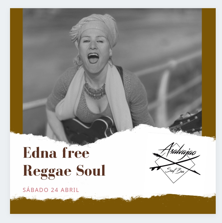 Actuacion de Edna Free - Reggae & Soul en Asalvajao Surf Bar El Palmar