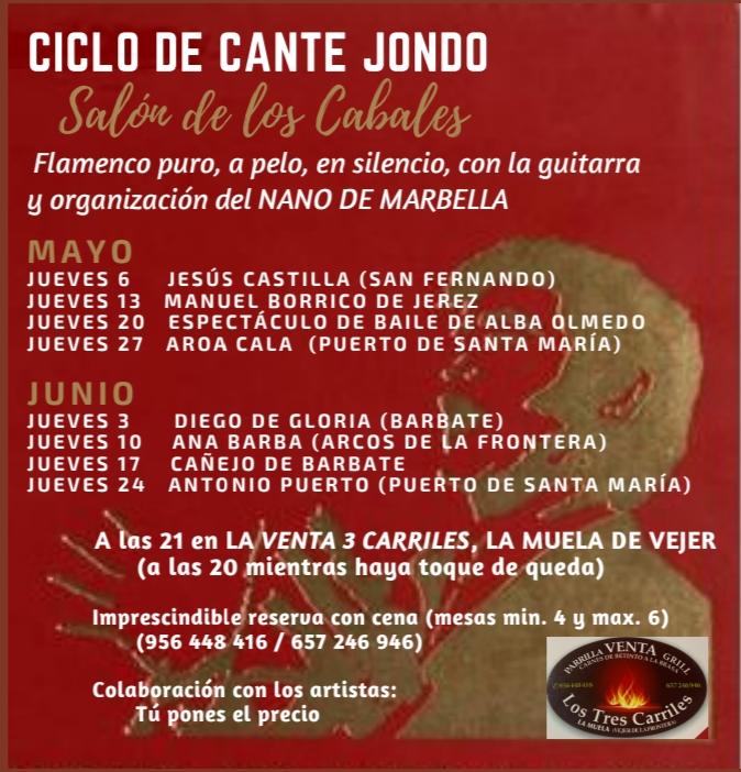 Ciclo de Cante Jondo en Venta Los Tres Carriles