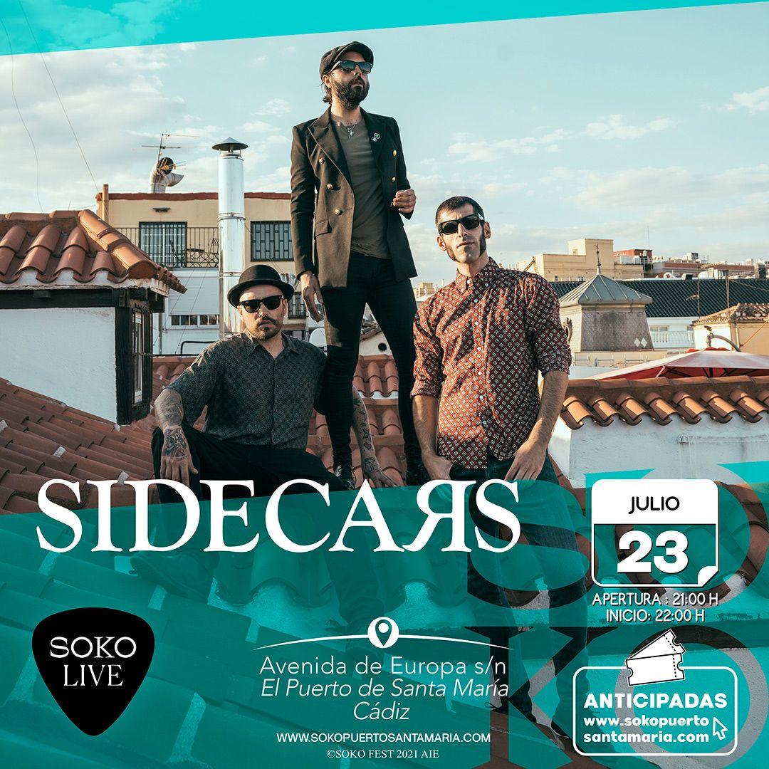 Concierto de Sidecars en Soko Live Fest El Puerto