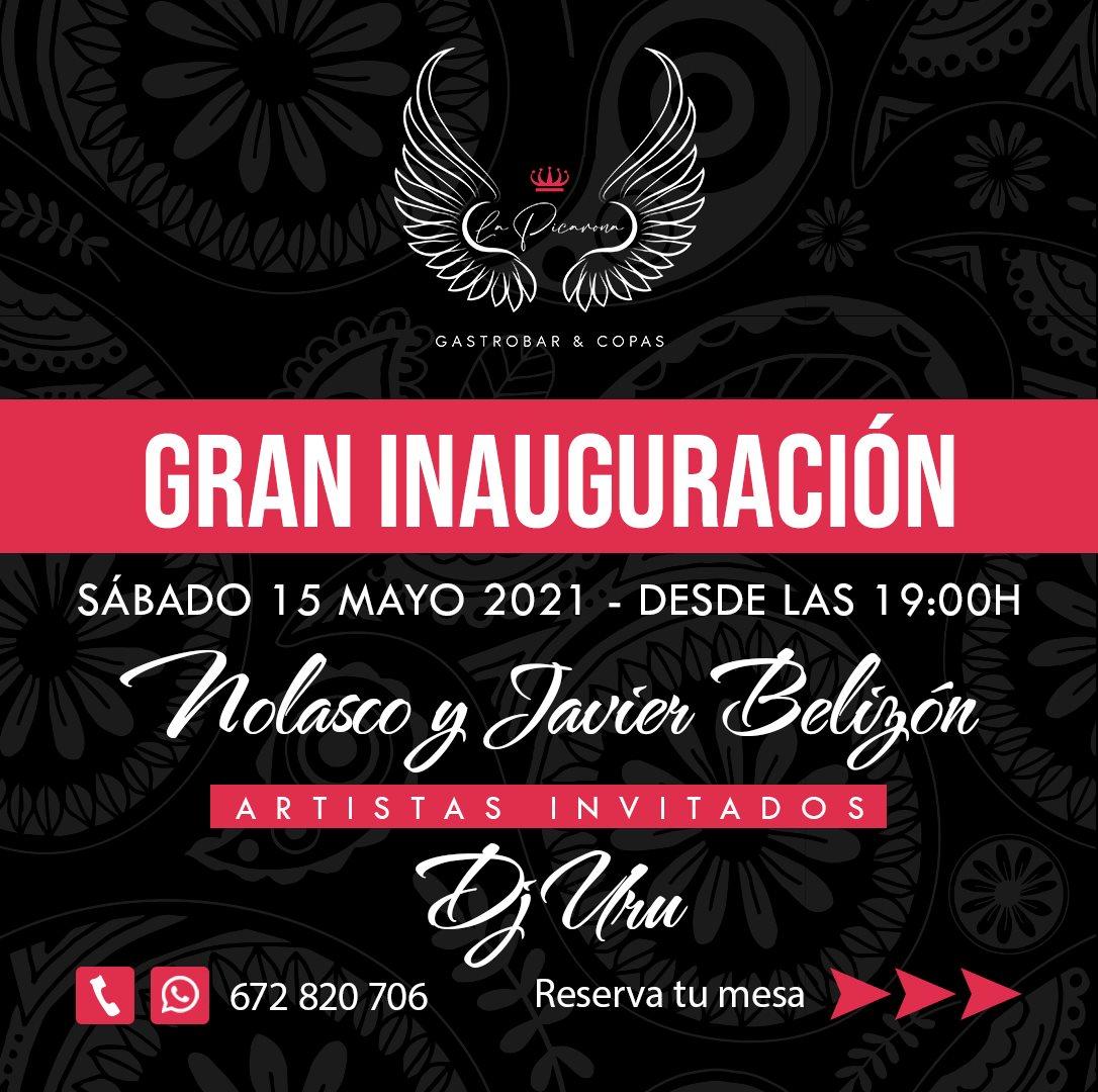 Inauguración de La Picarona de Sancti Petri y actuación de Nolasco y Javier Belizón