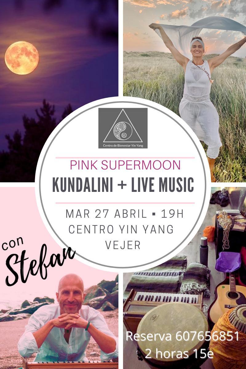 Pink Supermoon - Kundalini Yoga + Live Music en Centro Ying Yang Vejer
