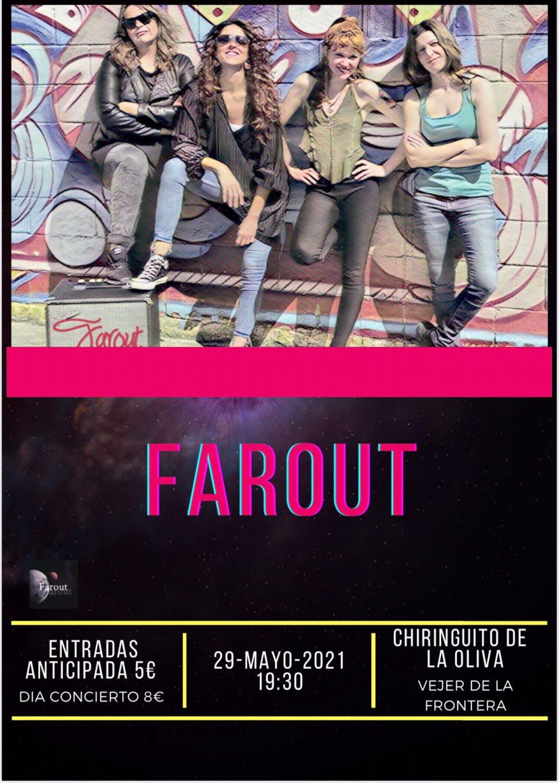Actuación de Farout en el Chiringuito de La Oliva