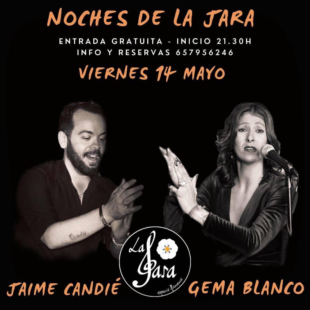Actuación de Jaime Candie, Gema Blanco y Jesule del Puerto en las Noches de la Jara