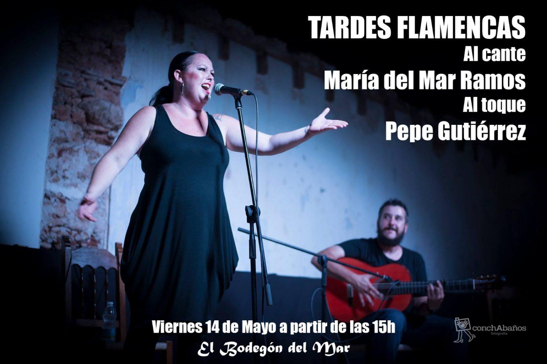 Actuación de María del Mar Ramos y Pepe Gutiérrez - Tarde Flamencas en El Bodegón del Mar
