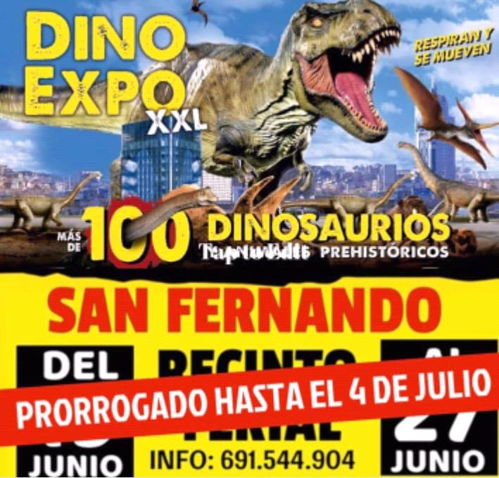 Exposición Dino Expo XXL en el Recinto Ferial de San Fernando