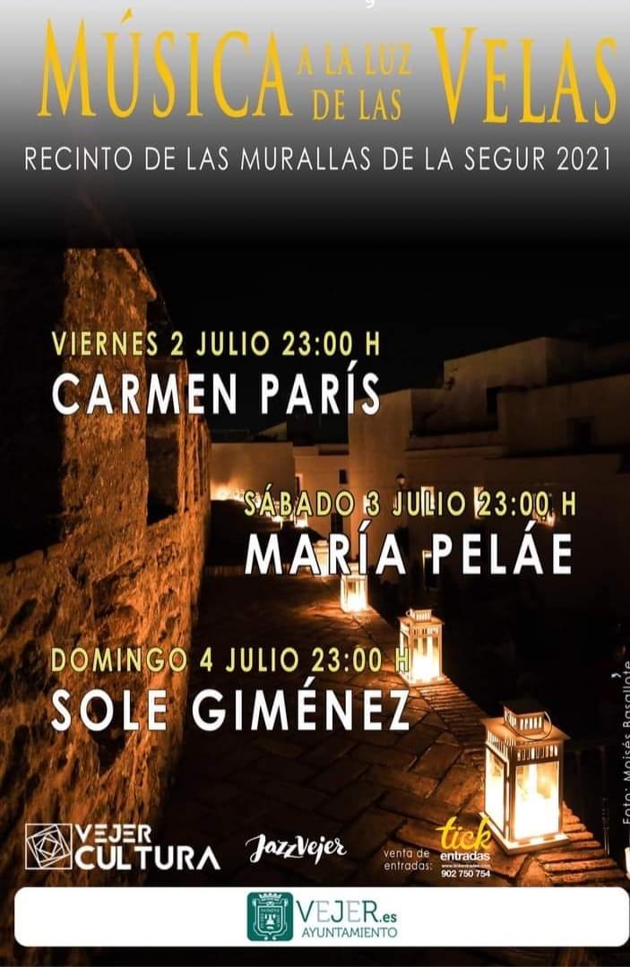 Música a la luz de las velas en el recinto de las Murallas de la Segur