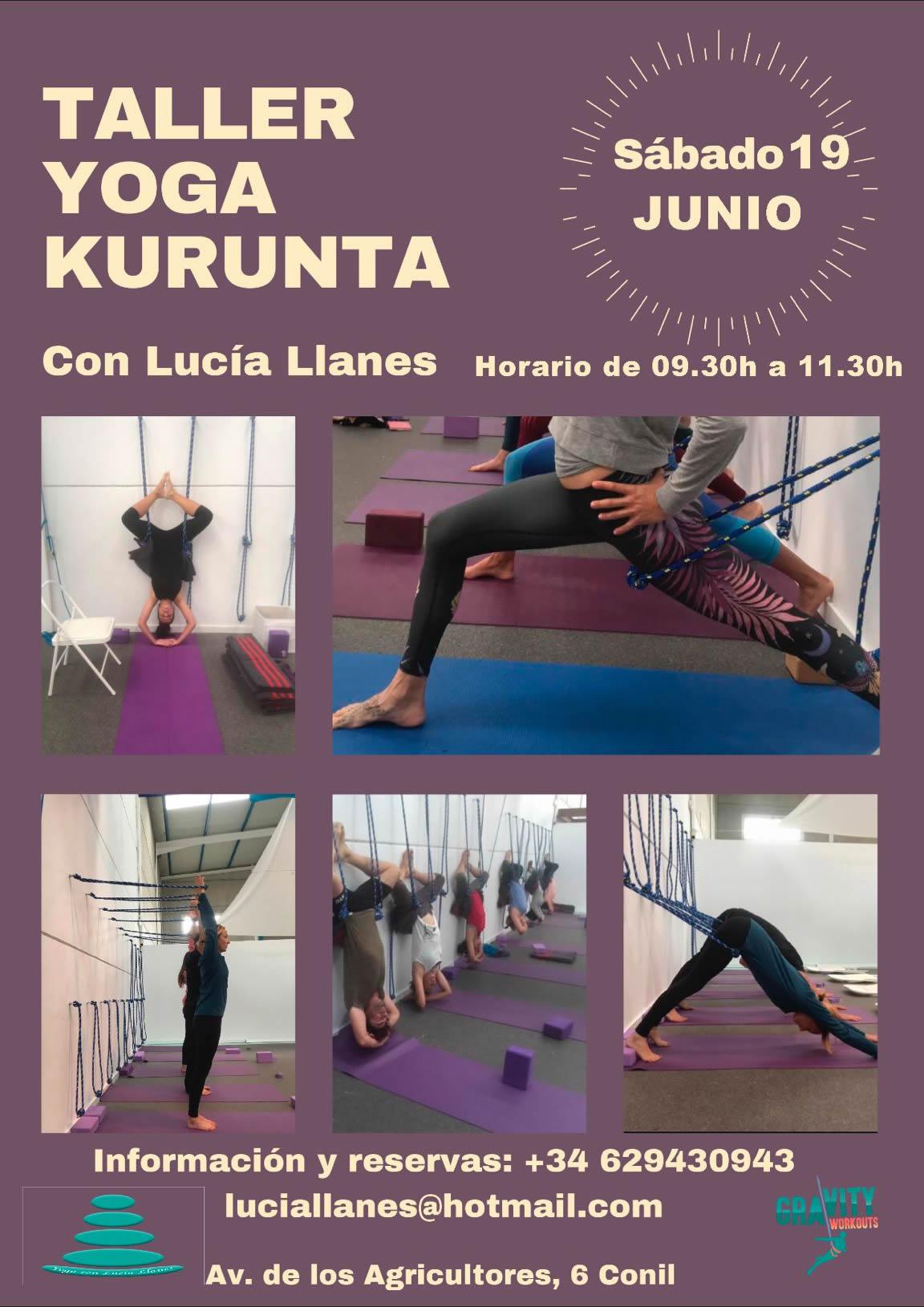 Taller de Yoga Kurunta 'yoga con cuerdas en la pared' en Gravity Workouts