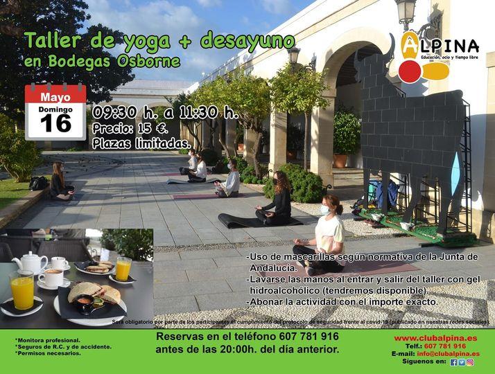 Taller de Yoga + desayuno en Bodegas Osborne El Puerto
