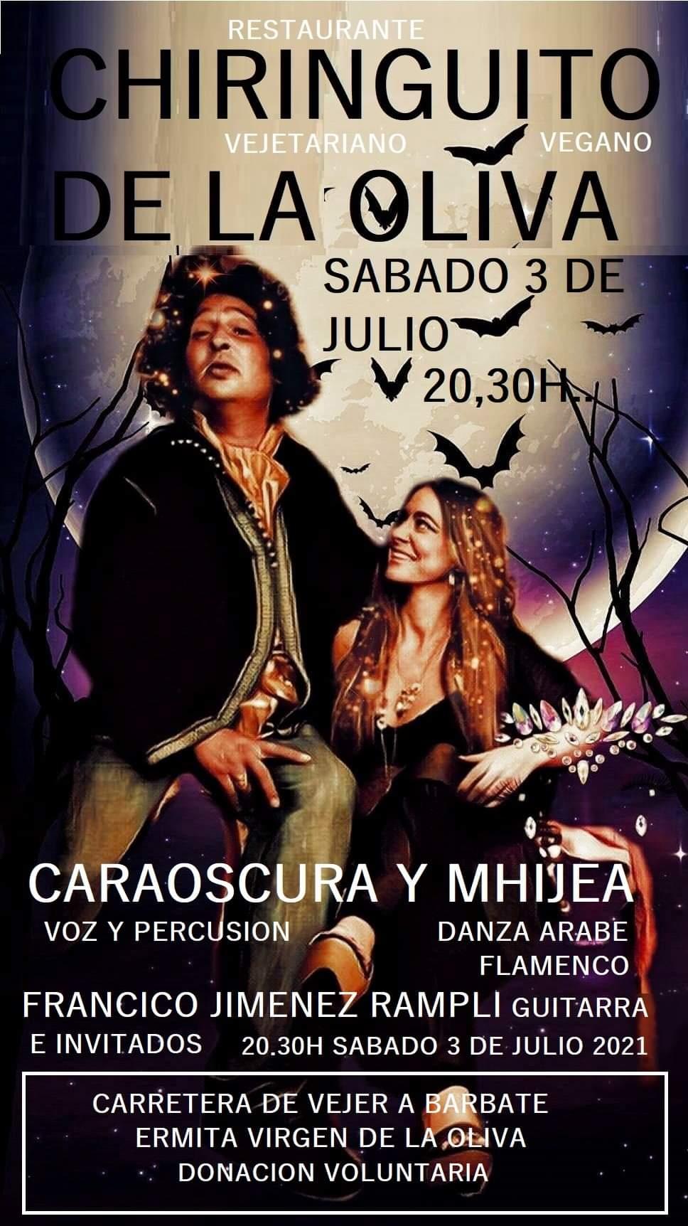 Actuación de Caraoscura y Mhijea en el chiringuito de La Oliva