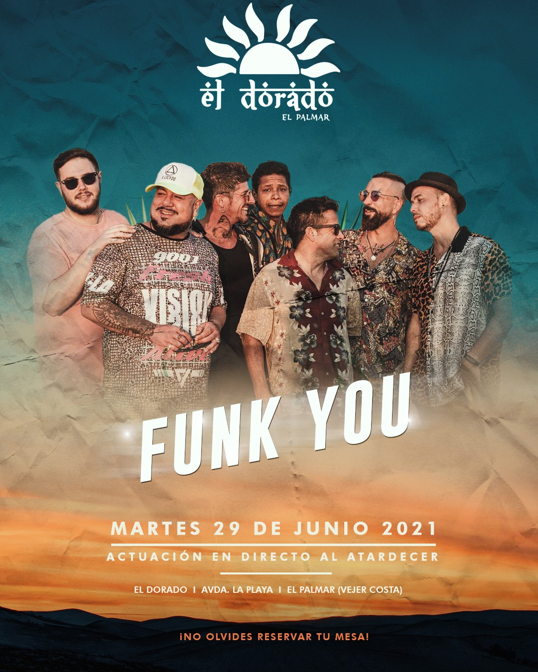 Actuación de Funk You en El Dorado El Palmar