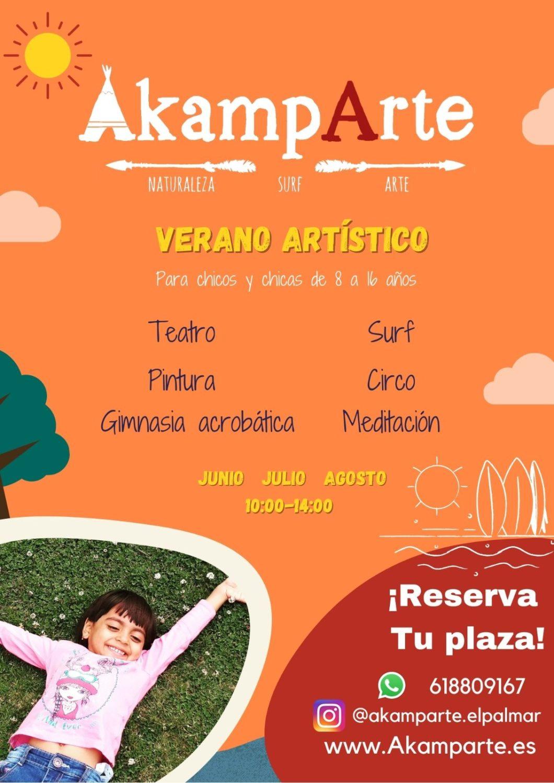 Campamento de Verano Artístico y Lúdico en Akamparte El Palmar