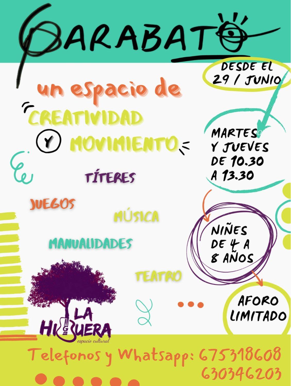 Garabato - Actividades para niños en La Higuera