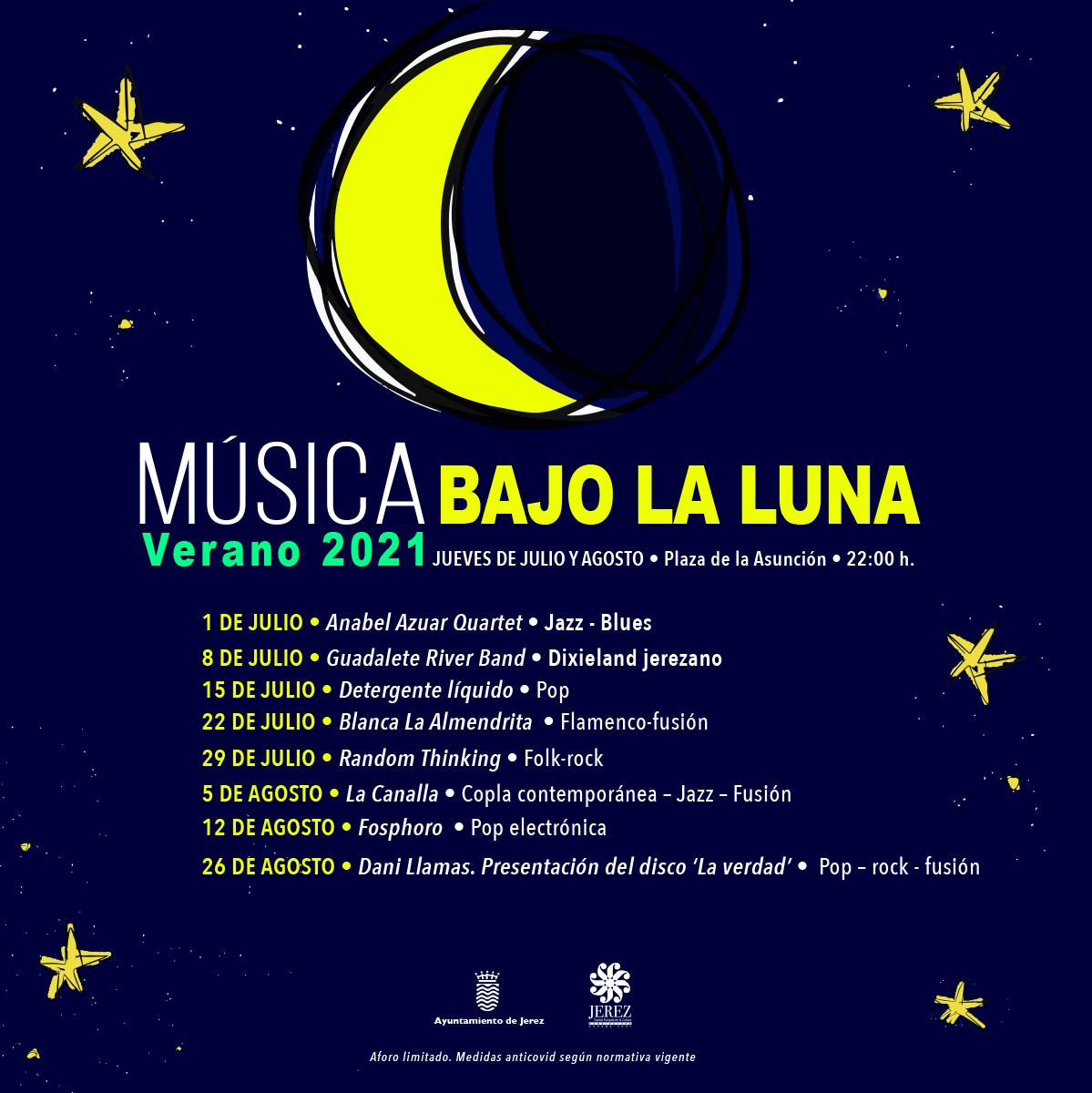 Música bajo La Luna - Verano 2021 en Jerez