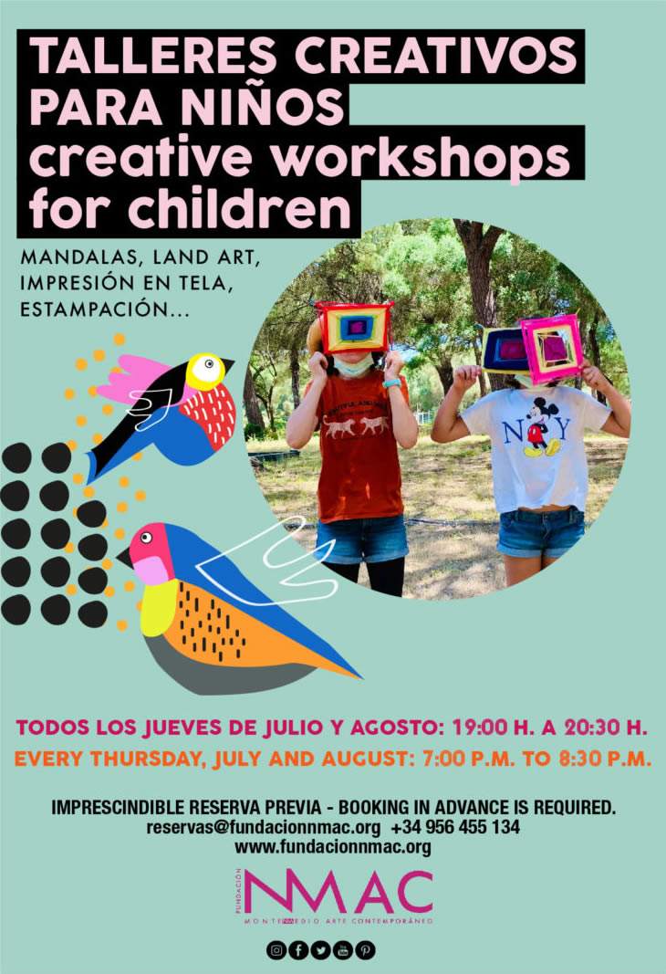 Talleres creativos para niños/as en NMAC - Montenmedio Arte Contemporáneo