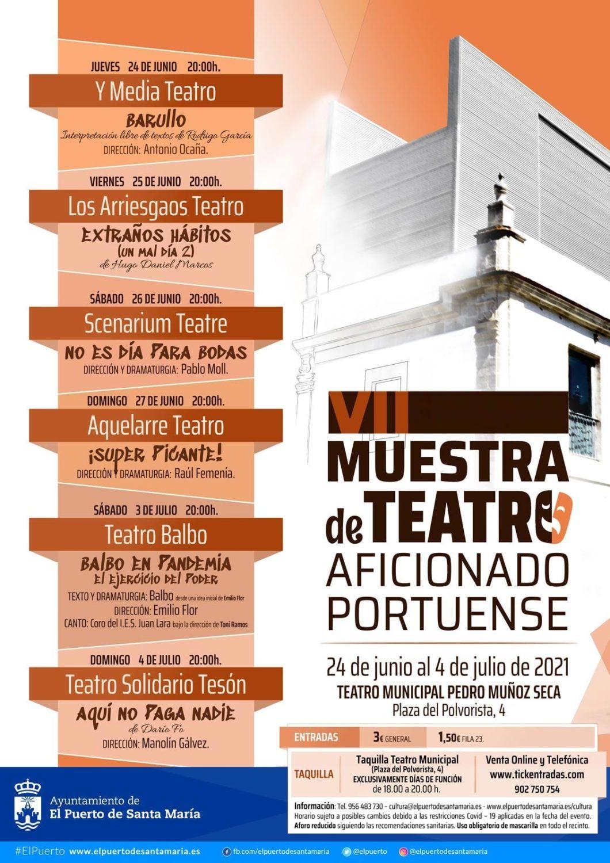 VII Muestra de Teatro Aficionado Portuense en el Teatro Municipal Pedro Muñoz Seca