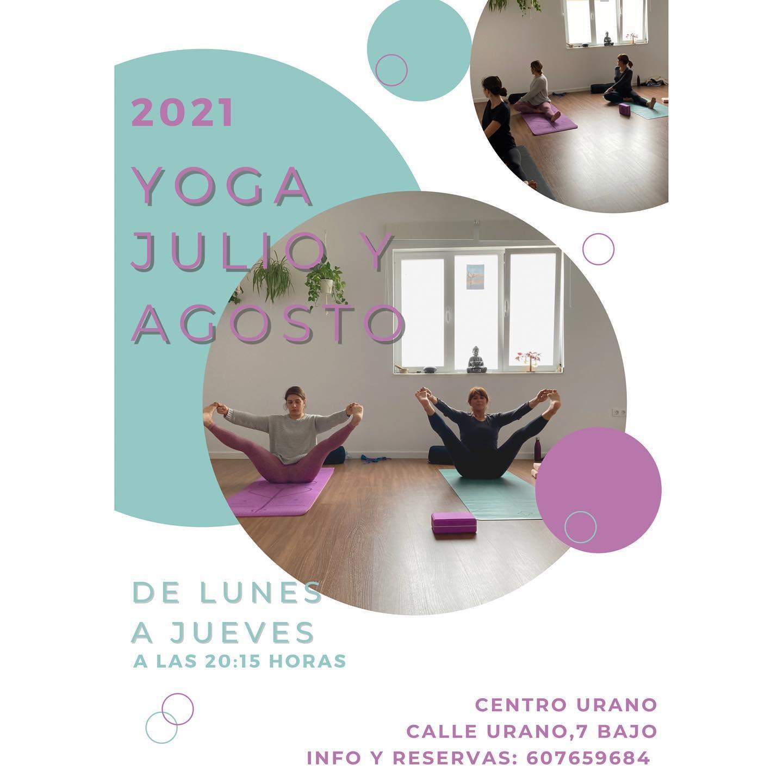 Clases de Yoga Julio y Agosto en Centro Urano - Conil