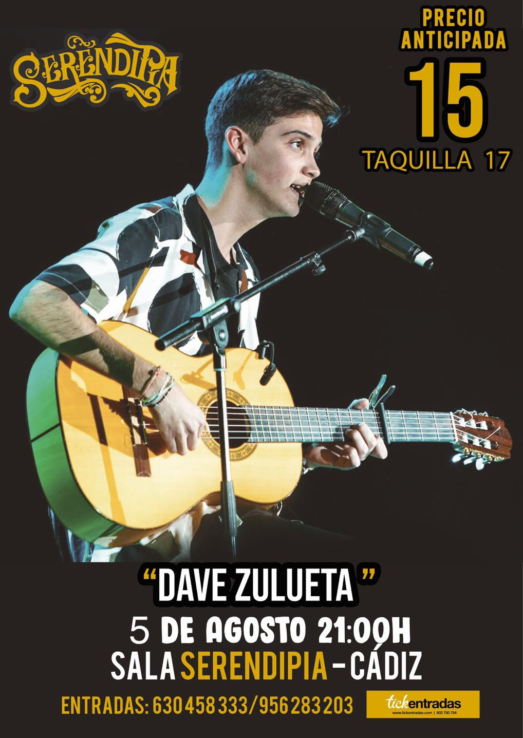 Concierto de Dave Zulueta en Serendipia