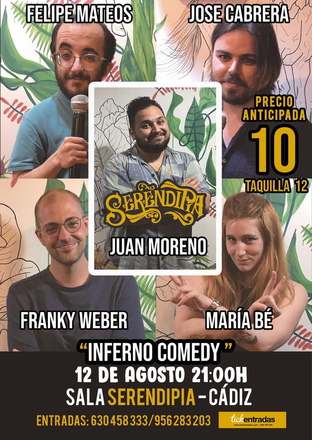 Inferno Comedy - Espectáculo Cómico en Serendipia