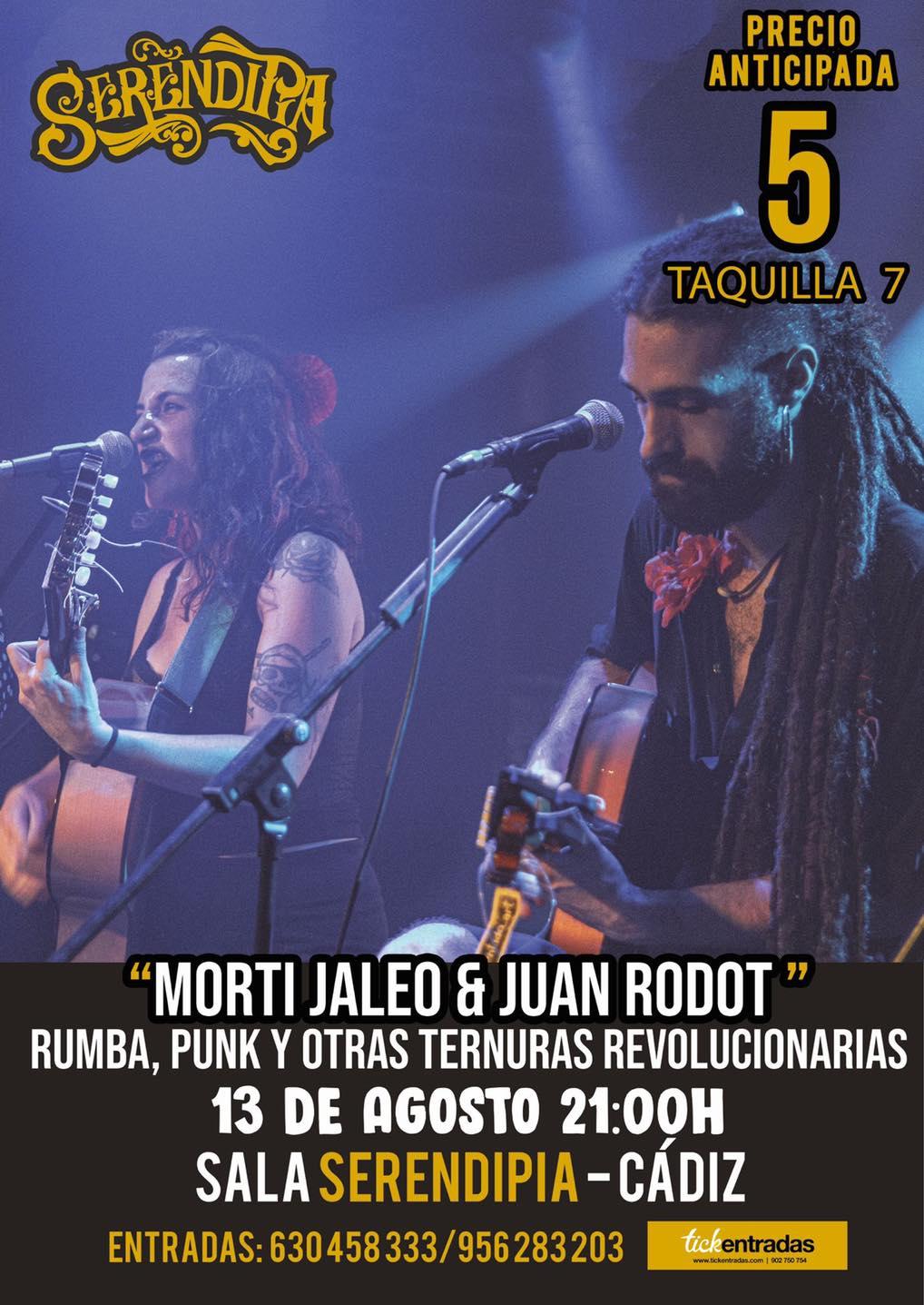 """Actuación de Morti Jaleo y Juan Rodot """"Rumba, Punk y otras ternuras Revolucionarias"""" en Serendipia"""