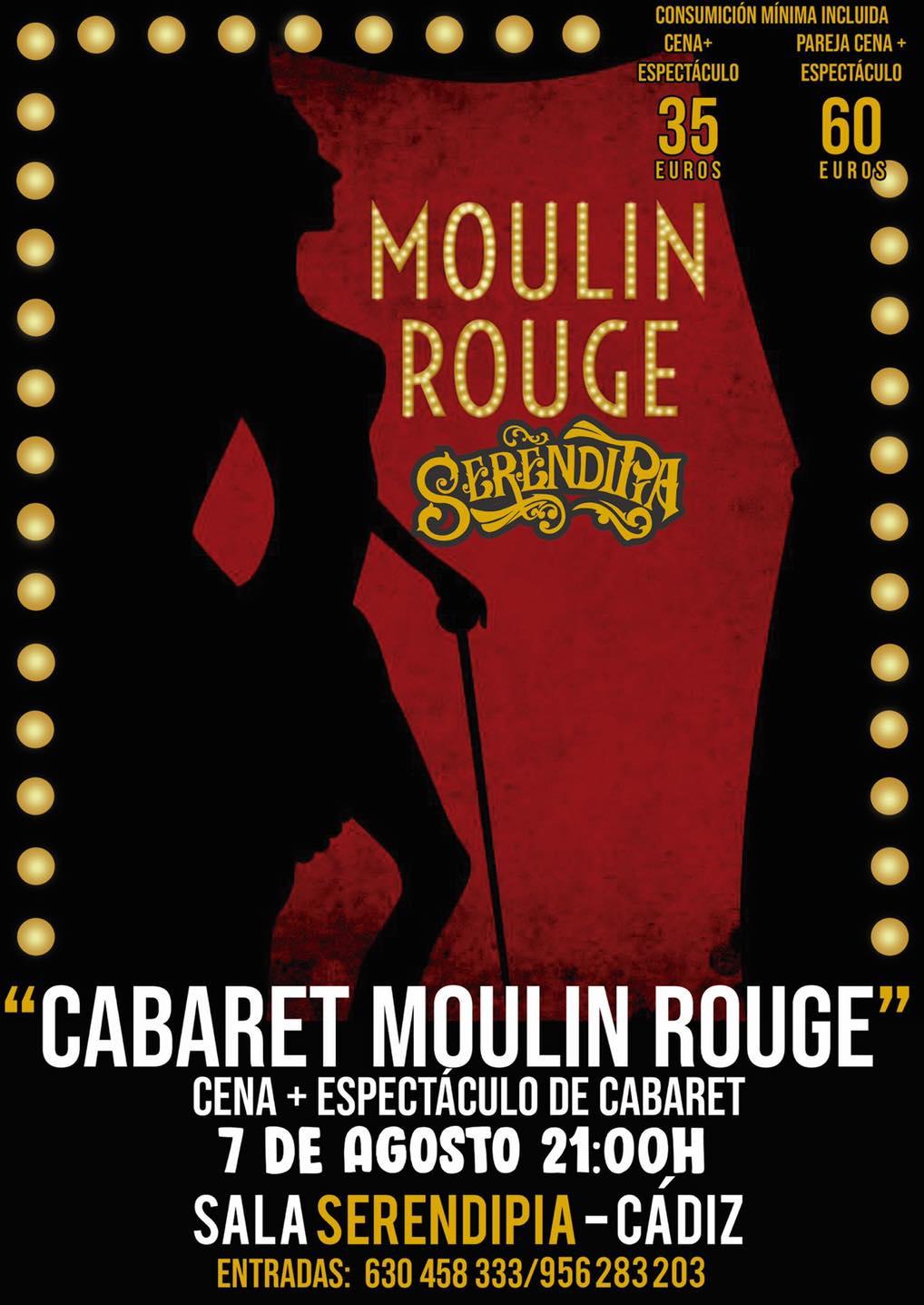 "Cena con Espectáculo de Cabaret ""Moulin Rouge"" en Serendipia"