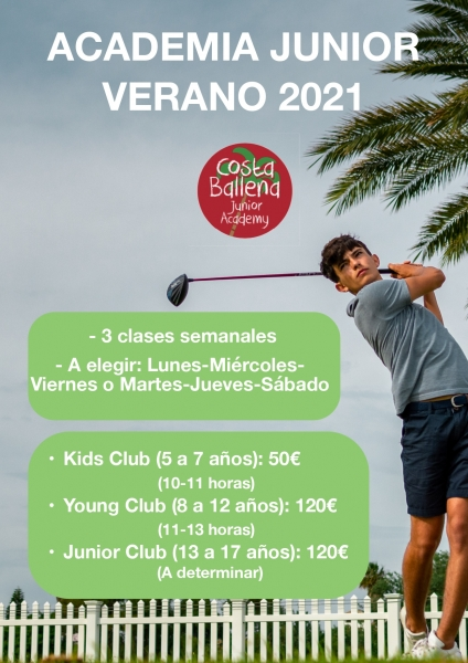 Academia de Golf Junior Verano en Costa Ballena