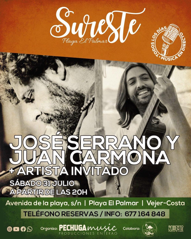 Actuación de José Serrano y Juan Carmona en Sureste El Palmar
