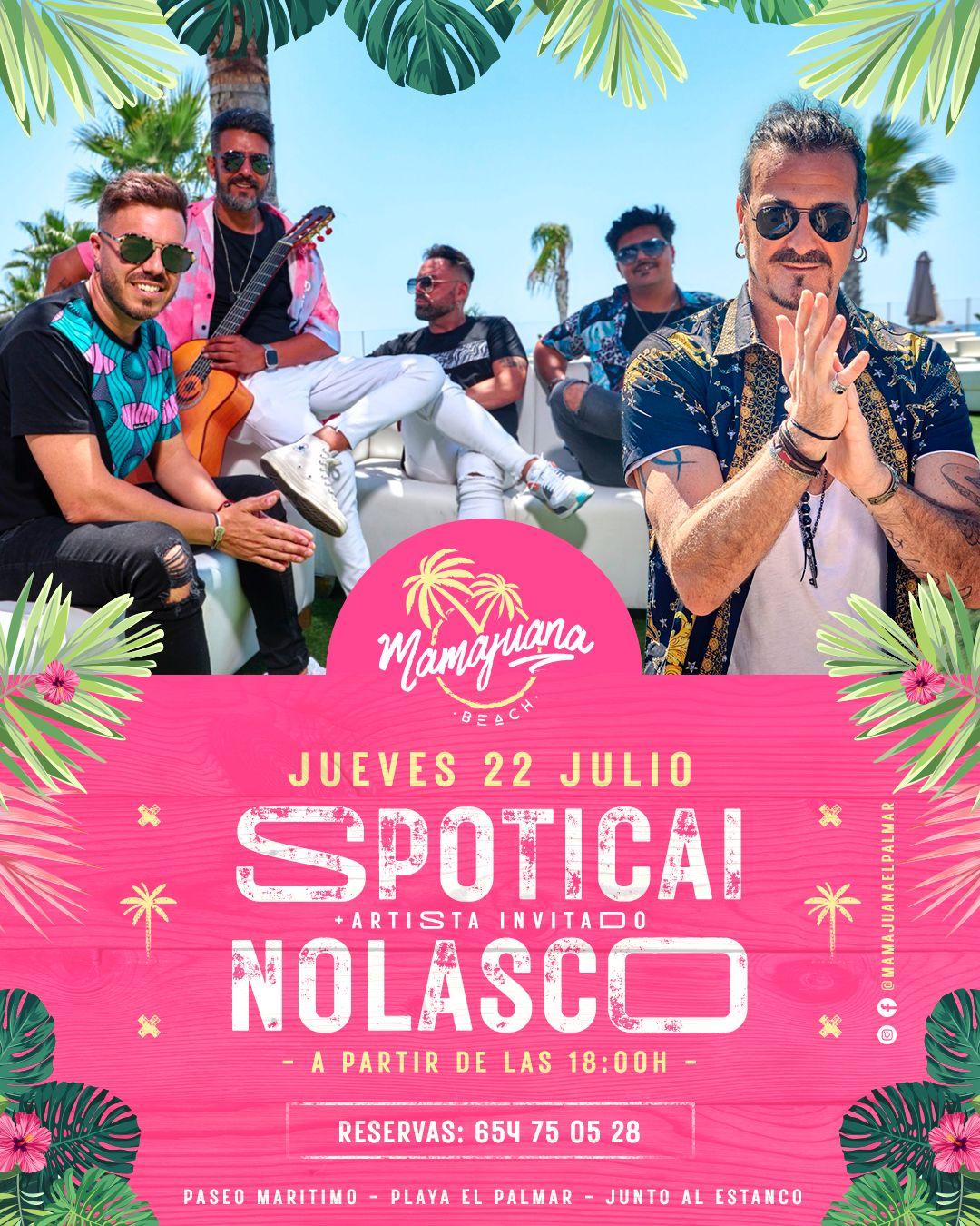 Actuación de Spoticai y Nolasco en Mamajuana El Palmar