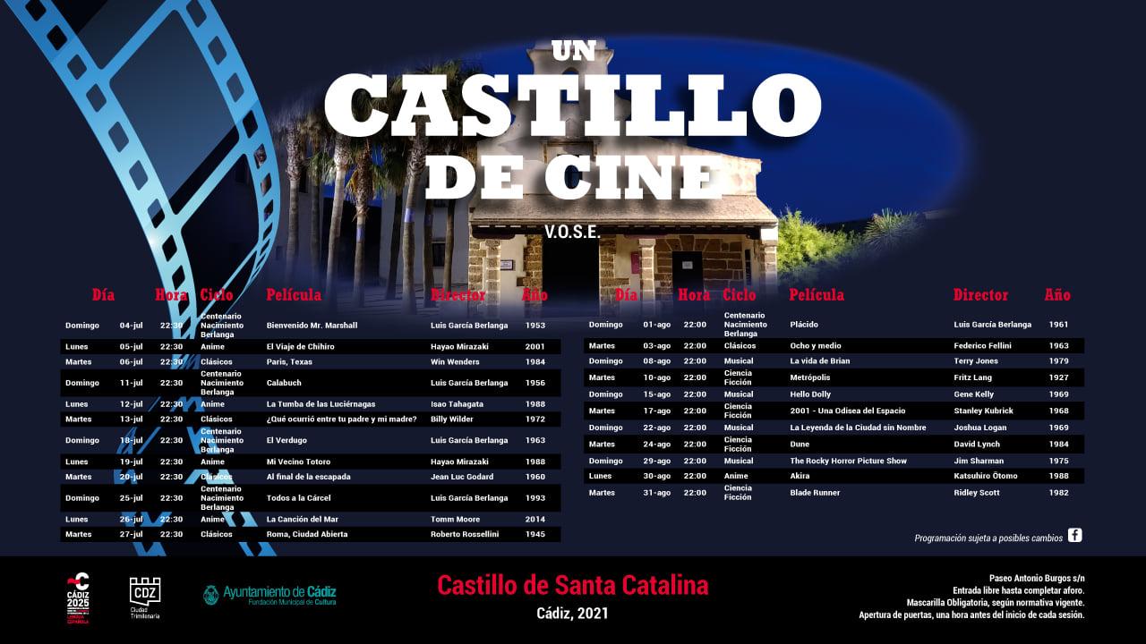 Ciclo 'Un Castillo de Cine' en el Castillo de Santa Catalina de Cádiz