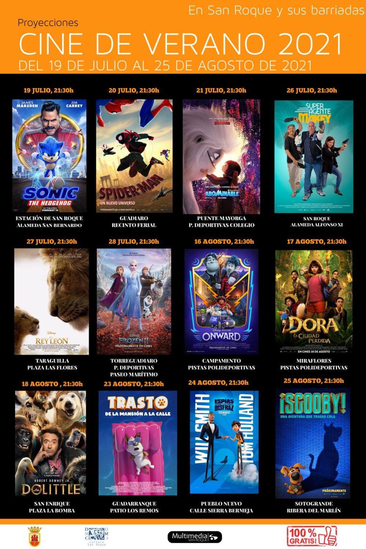 Cine de Verano 2021 en San Roque