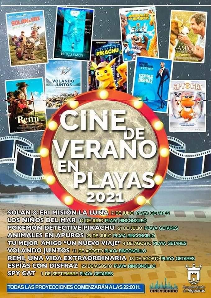 Cine de Verano 2021 en las Playas de Algeciras