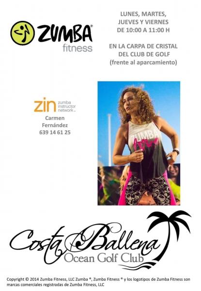 Clases de Zumba Fitness en Ocean Golf Club Costa Ballena