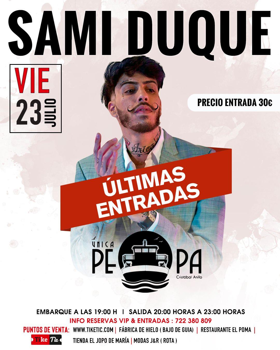 Concierto de Sami Duque a bordo del Barco La Pepa