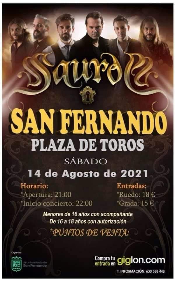 Concierto de Saurom en la plaza de toros