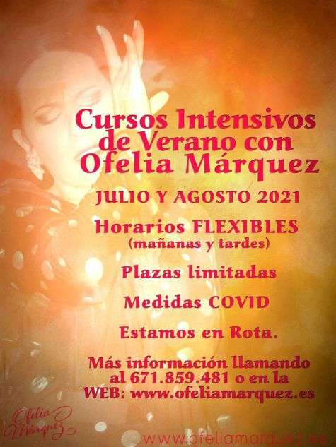 Cursos Intensivos de Flamenco en Verano con Ofelia Márquez