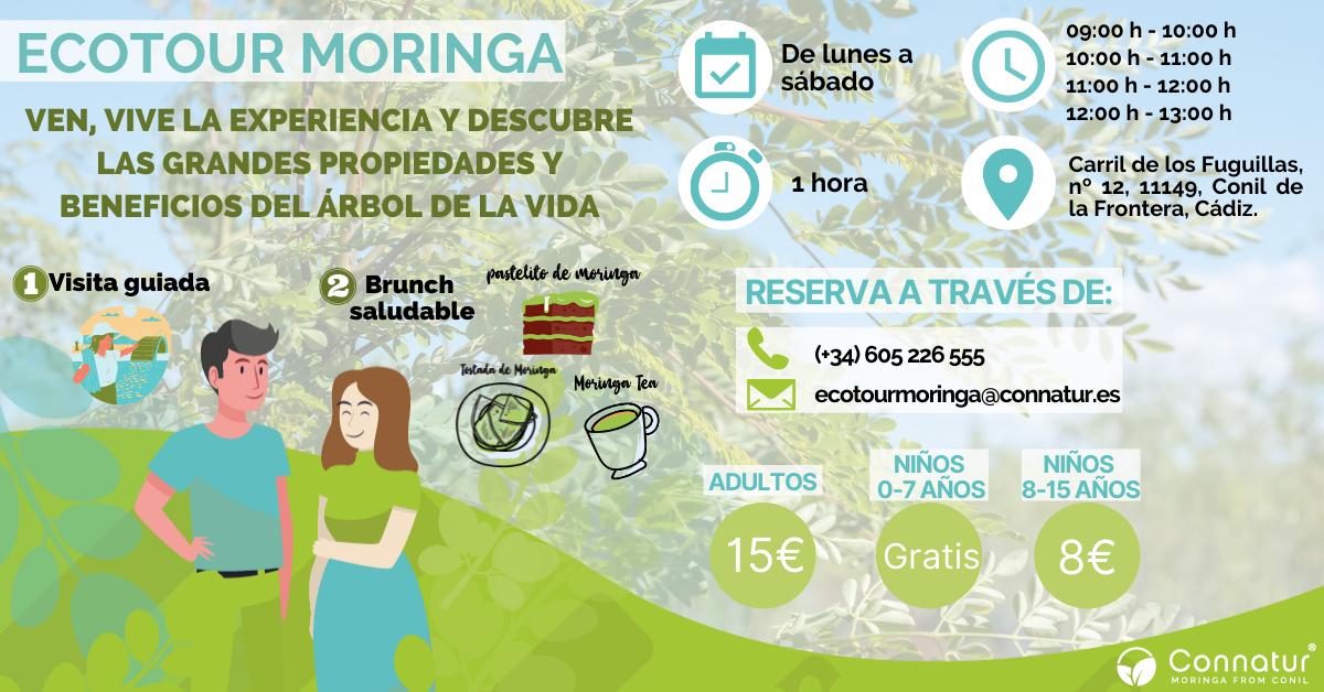 Ecotour Moringa - Visita guiada y Brunch Saludable en Connatur Conil