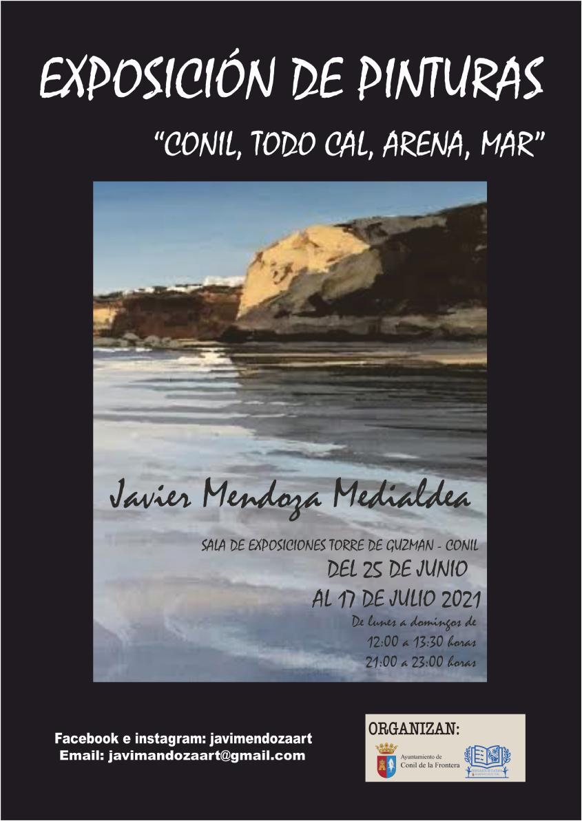 Exposición de pintura 'Conil, todo cal, arena, mar' en la Sala Torre de Guzmán