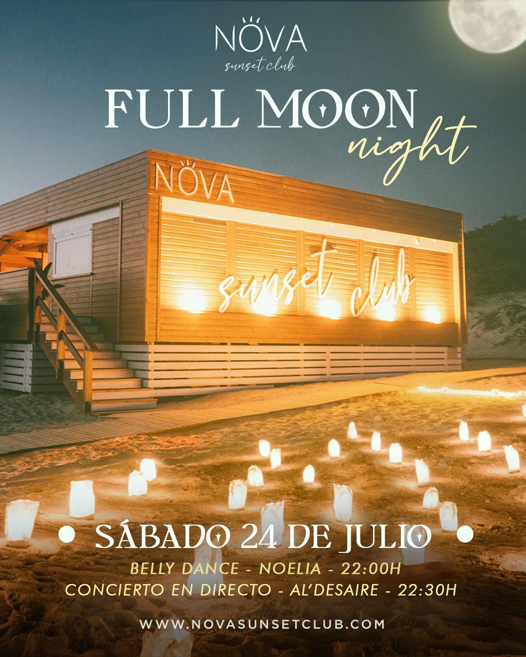 Full Moon Night en Nova Sunset Club