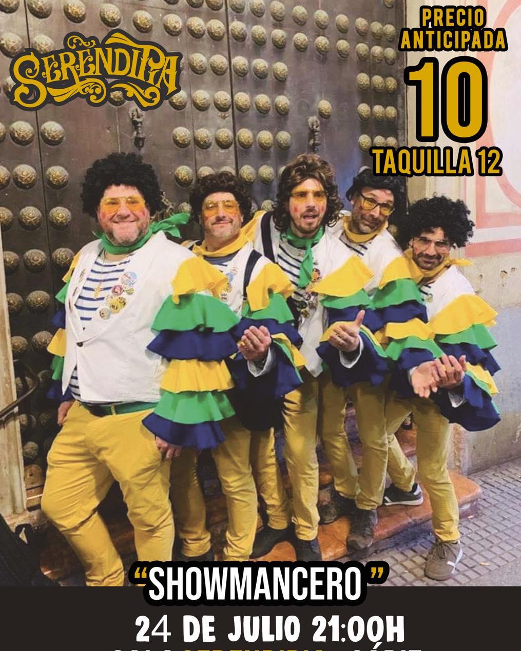 Noche de Carnaval con la actuación de Showmancero en Sala Serendipia, Cádiz