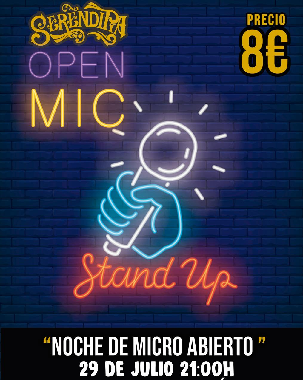 Noche de micro abierto en Sala Serendipia, Cádiz