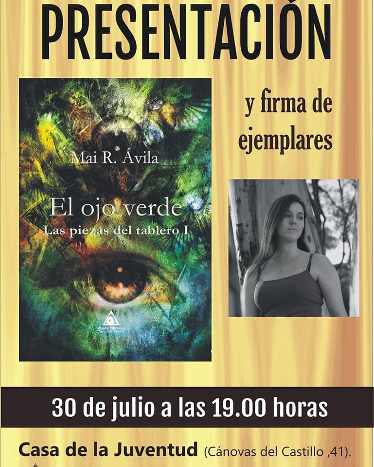 Presentación del libro 'El Ojo verde' de Mai R. Avila en la Casa de la Juventud