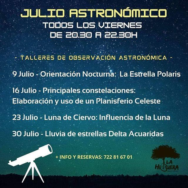 Taller de Observación Astronómica en La Higuera