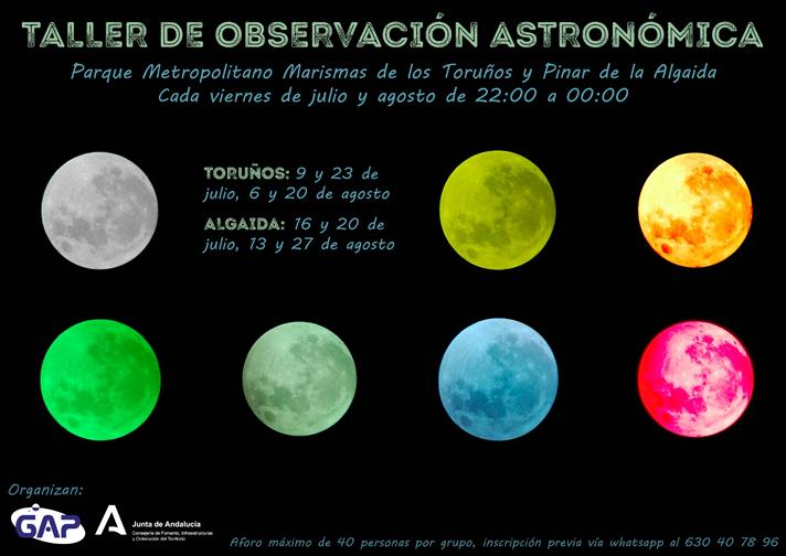 Talleres de Observación Astronómica en el Parque de los Toruños