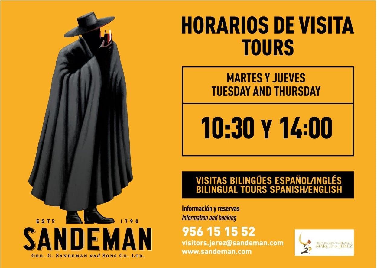 Visita a Bodegas Sandeman y Cata degustación en Jerez