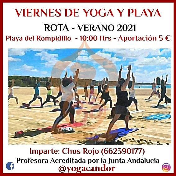 Yoga en la Playa del Rompidillo de Rota