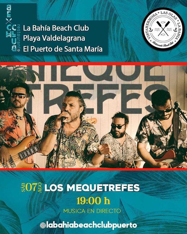 Actuación de Los Mequetrefes en La Bahía Beach Club