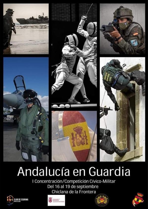 I Concentración-Competición Cívico Militar 'Andalucía en Guardia' en el Pabellón Ciudad de Chiclana